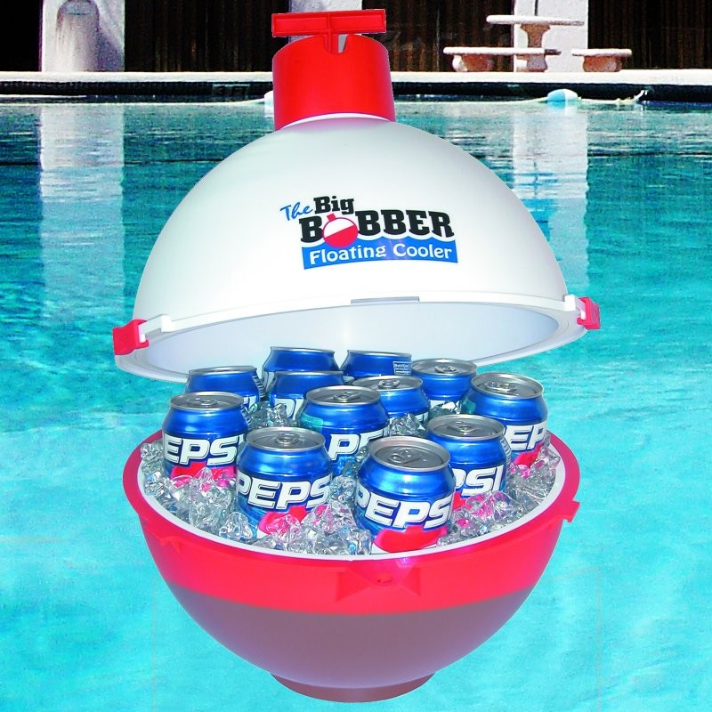 Floating Beverage Cooler Big Bobber : Pool & Spa