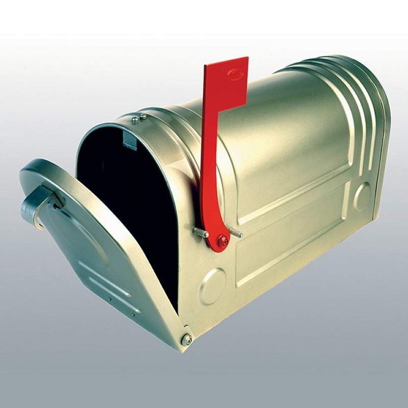 Metallic Silk Post Mailbox
