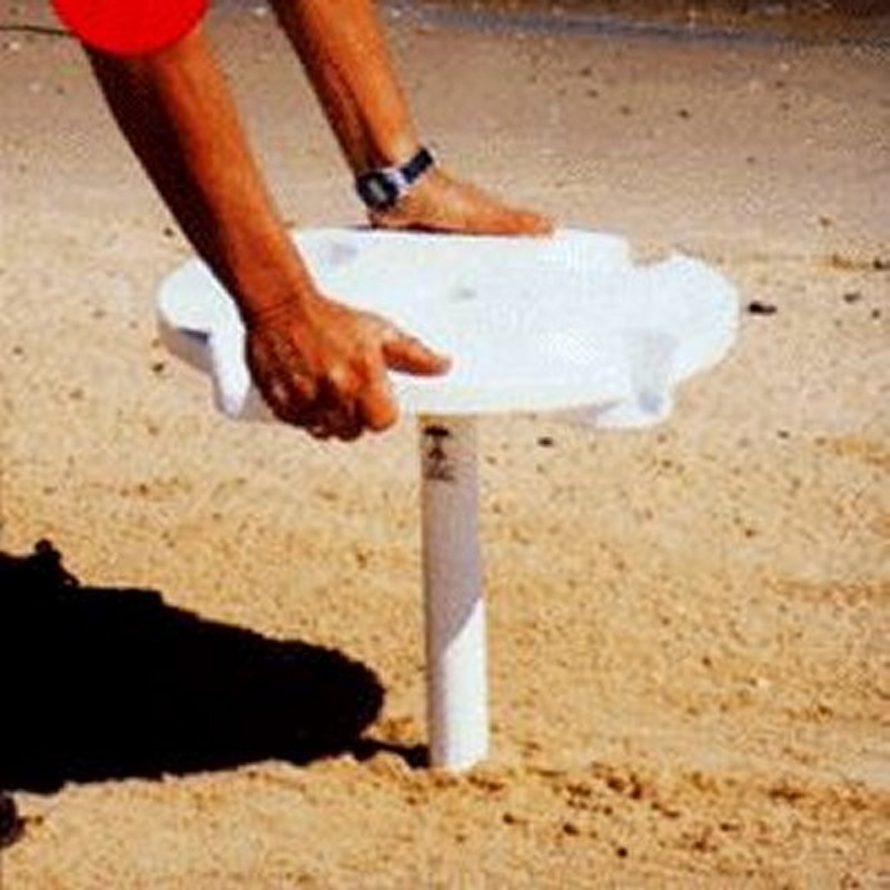 Beach Umbrella Table with Sand Anchor