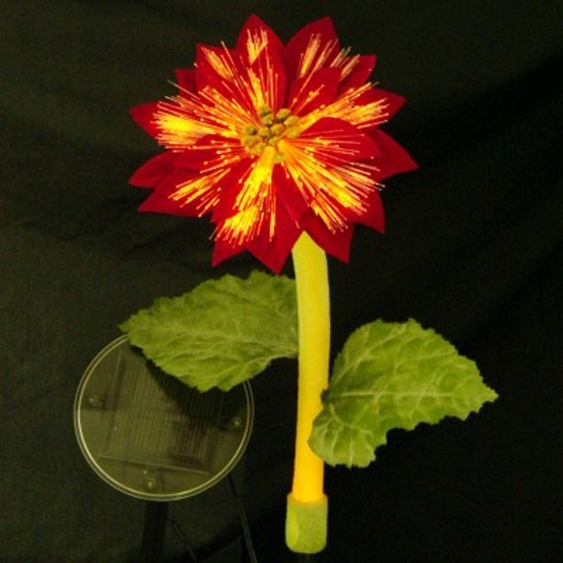 Solar Night Flowers - Poinsettia Solar Light alternative photo #2