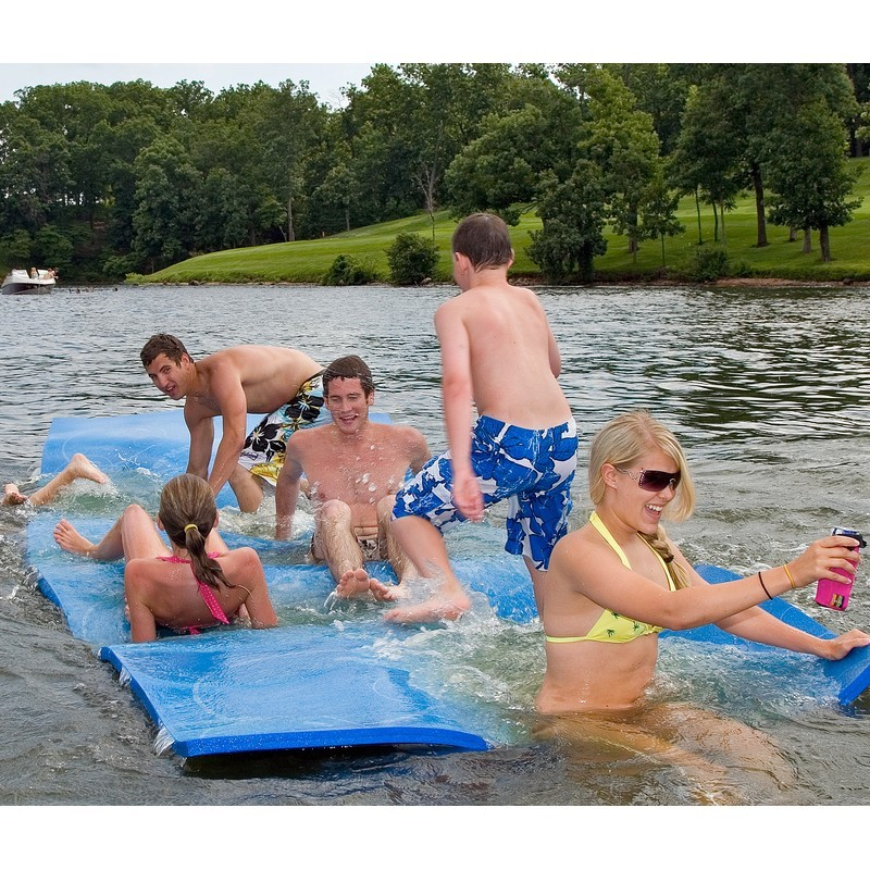 Lake Trampolines, Bouncers, Rafts: The WaterMat Original Floating Mat 6x20
