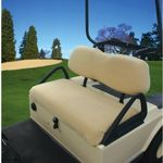 Golf Car Fleece Seat Cover White