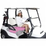 Golf Cart Seat Blanket Pink with Gray Fleece