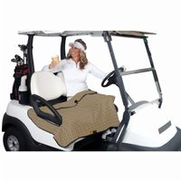 Golf Cart Seat Blanket Plaid with Gray Fleece CAX-40-015-013701-00