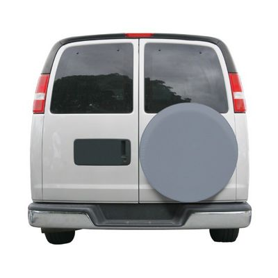 Custom Fit Spare Tire Cover 25 inch Gray CAX-80-089-151001-00