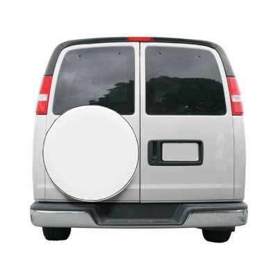 Custom Fit Spare Tire Cover 25 inch White CAX-75110
