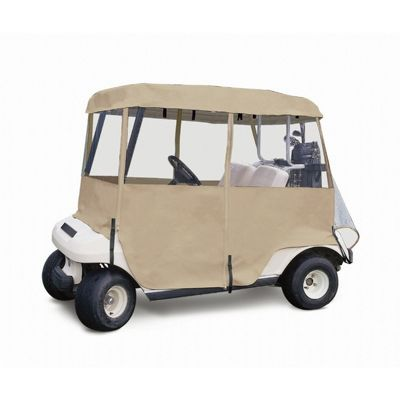 Deluxe 4-Sided Golf Car Two-person Enclosure CAX-72072