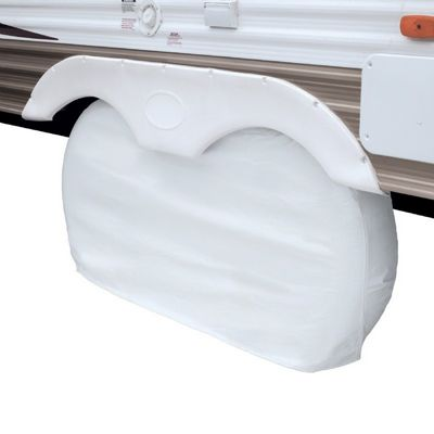 Dual Axle Wheel Cover White Large CAX-80-110-042801-00