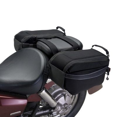 Motorcycle Saddle Bags Black CAX-73707