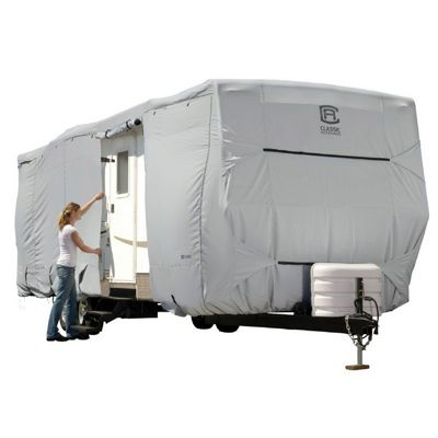 PermaPRO Travel Trailer Cover Gray Fits up to 24'-27'L CAX-80-137-171001-00