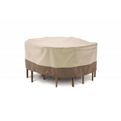 veranda patio large round table and chair set cover 94 d cax 78942