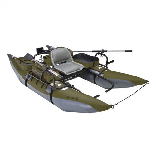 Colorado XT Inflatable Pontoon Fishing Boat Sage/Gray CAX-69770
