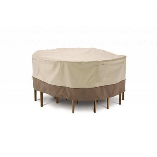 "Veranda Patio Large Round Table and Chair Set Cover 94""D CAX-78942"