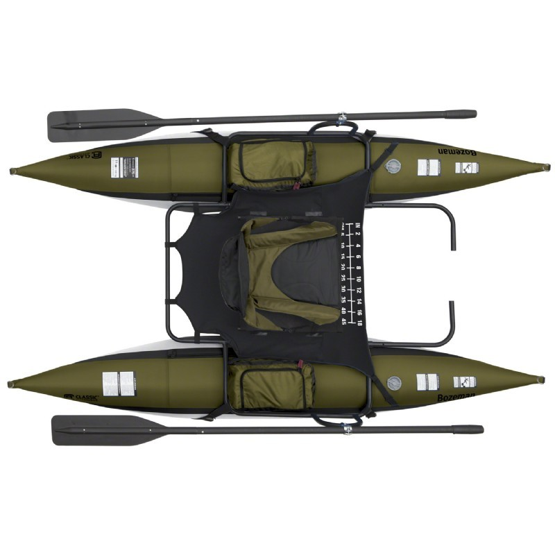 Bozeman inflatable portable pontoon fishing boat for Fishing pontoon boat reviews