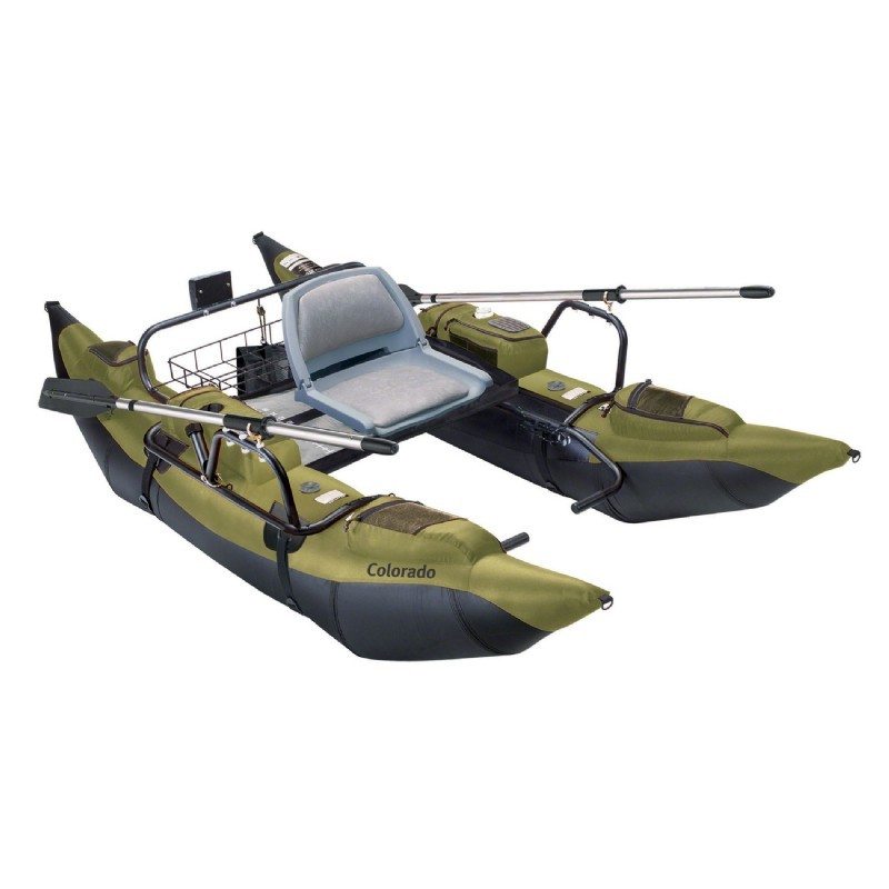 Colorado inflatable pontoon fishing boat for Inflatable fishing pontoon