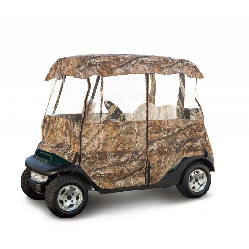 Deluxe Camo Golf Car Enclosure : Golf Car Covers