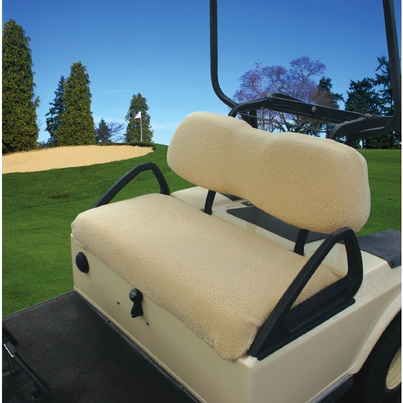 Golf Car Fleece Seat Cover White : Golf Car Covers