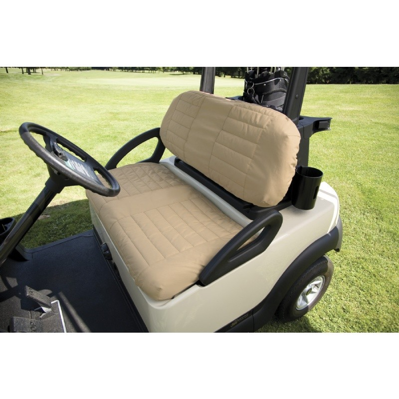 Golf Car Padded Seat Cover Sand : Golf Car Covers