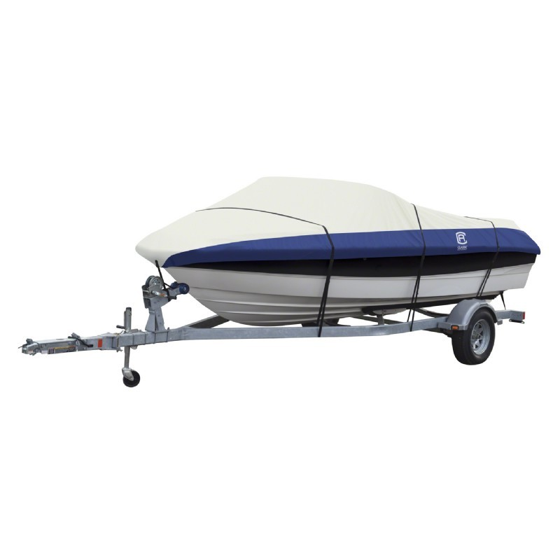 Lunex RS-2 Boat Cover Linen/Navy 16-18.5 ft.