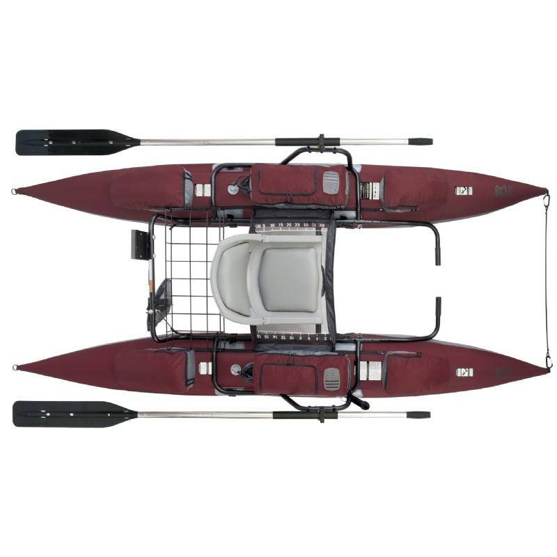Oswego inflatable pontoon fishing boat for Fishing pontoon boat reviews