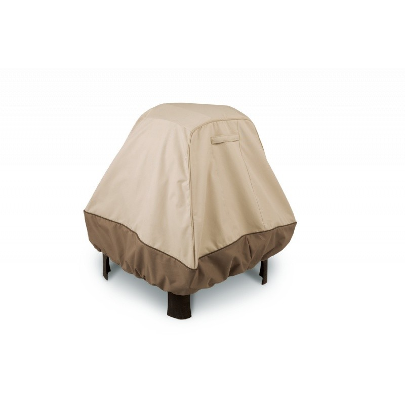 Veranda stand up fire pit cover xl for Patio furniture covers xl