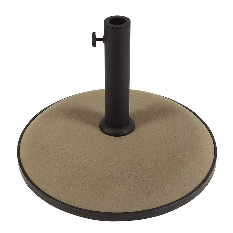 Patio Umbrellas, Beach Umbrellas: Patio Umbrella Base Concrete Bronze 50 lbs.