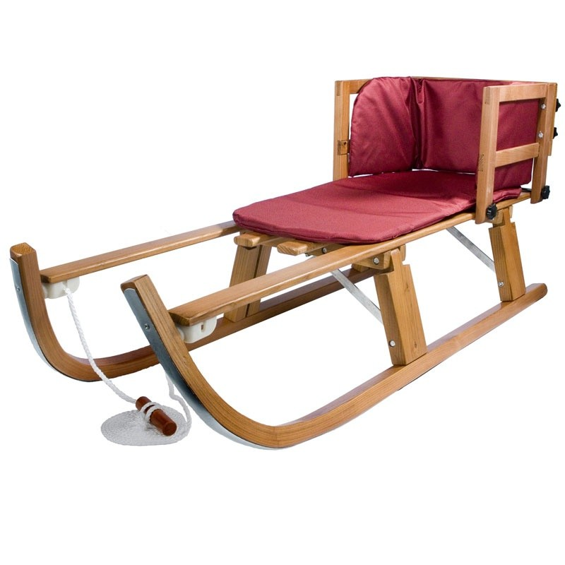 Arrowhead Toboggan Fawn Sled: Heirloom Wooden Folding Snow Pull Sled