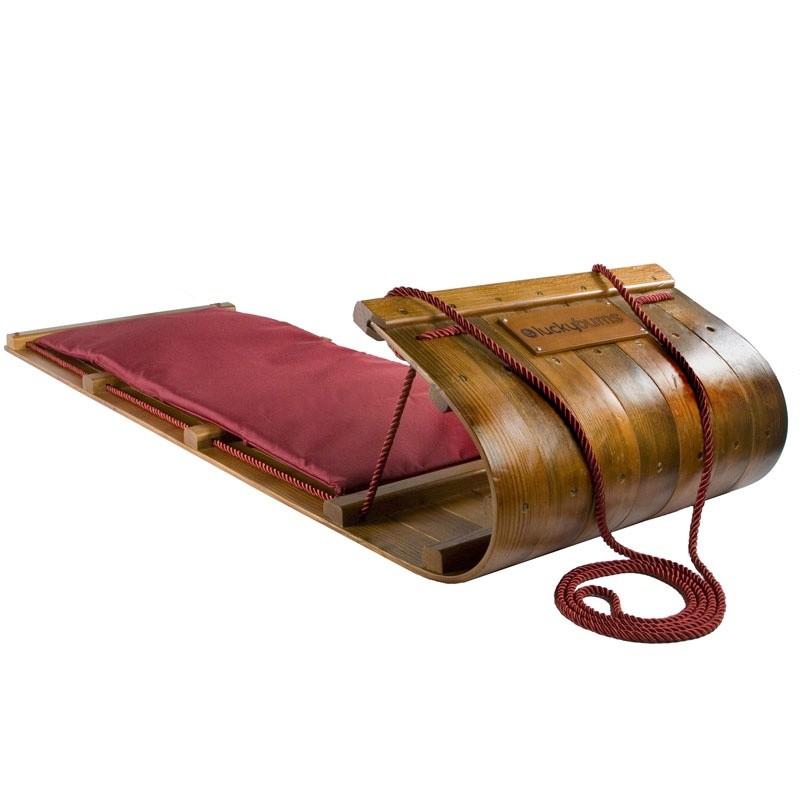 wooden toboggan snow sled 72 inch lb. Black Bedroom Furniture Sets. Home Design Ideas