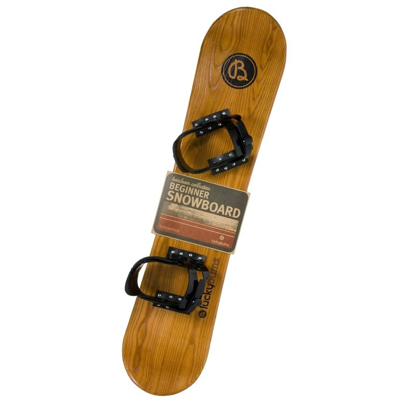 5 Foot Toboggans: Heirloom Kids Beginner Snowboard 95 cm.