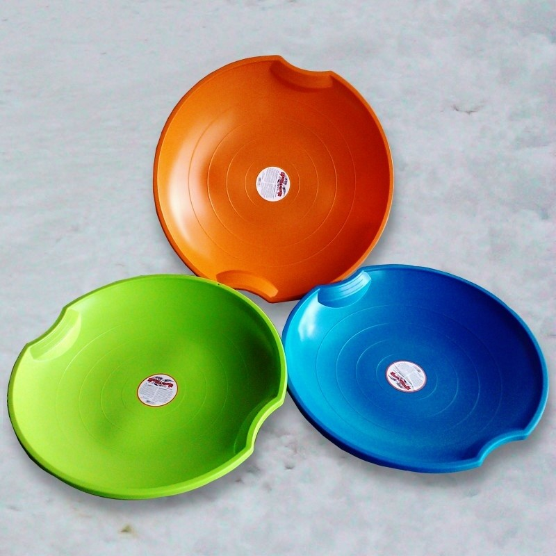Crazy Snow Sleds: Flying Saucer 3-pack Plastic Sleds