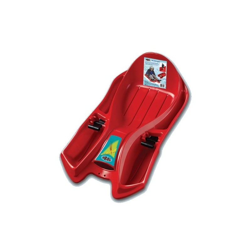 5 Foot Toboggans: Interceptor Plastic Sled with Brakes Red