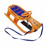 Snow Tiger Deluxe Plastic Snow Sled Orange