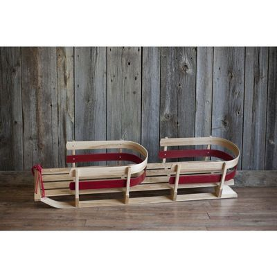 St. Nick Donner Sleigh Two Seater Red ES670-01