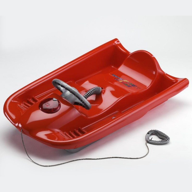 Snow Flyer Deluxe Plastic Snow Sled Red : Foam Snow Sleds