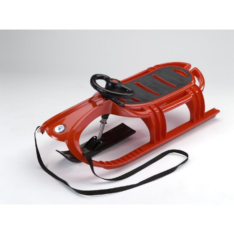 Snow Tiger Deluxe Plastic Snow Sled Red