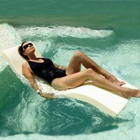 Folding Splash Pool Float Lounger Cream INF-11720