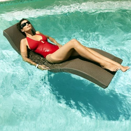 Folding Splash Pool Float Lounger Chocolate Inf 11737