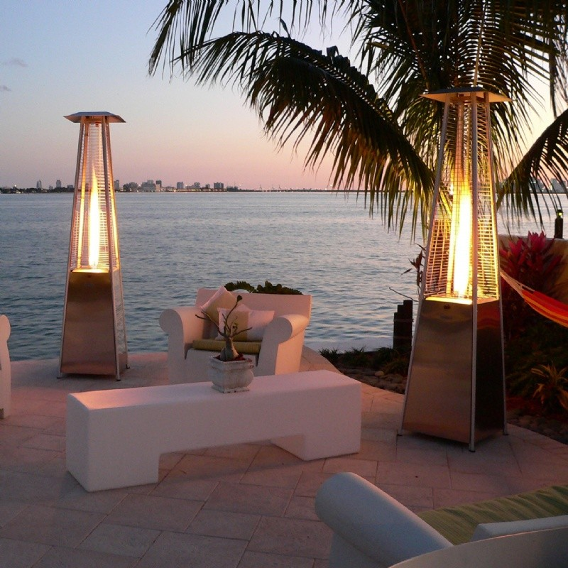 Gas Outdoor Firepits: The Bonfire Natural Gas Patio Heater