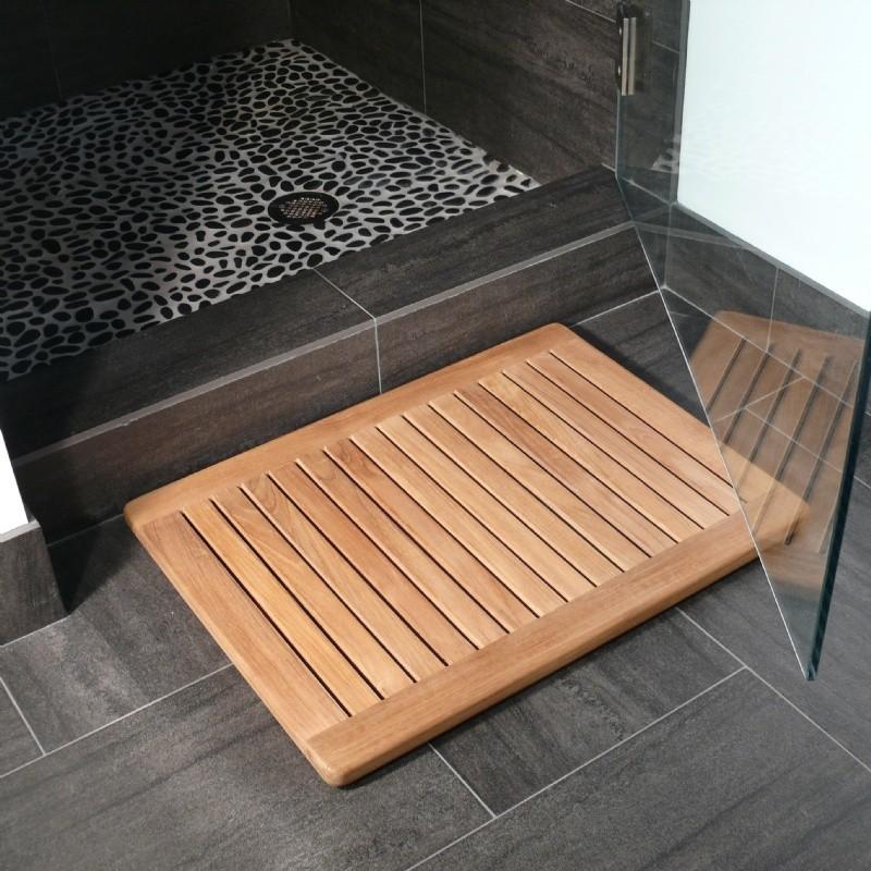 Teak Outdoor Shower Mat