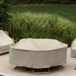 "60"" Round Table 6 HB/ST Chairs Patio Furniture Cover PC1349"
