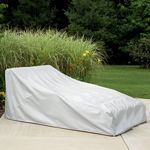"78"" Double Chaise Lounge Cover - Gray PC1161"