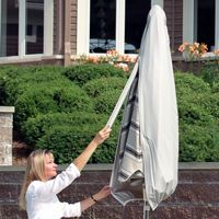 6' to 8' Small Patio Umbrella Cover with Wand - Gray PC1170