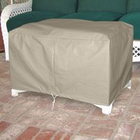 Patio ottoman and footstool covers