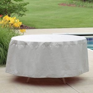 "48"" - 54"" Round Outdoor Patio Table Cover - Gray PC1154-GR"
