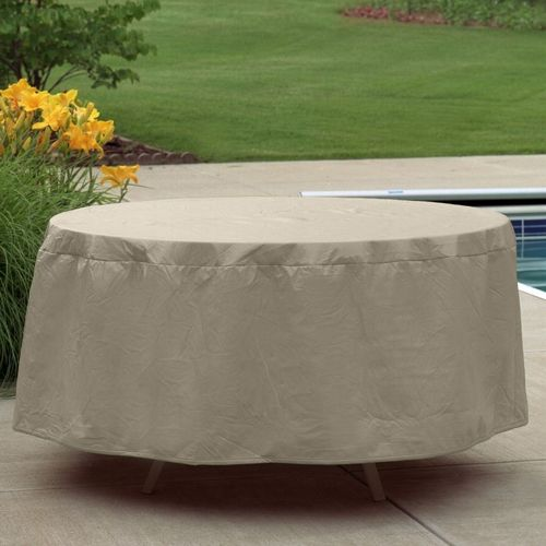"72"" - 76"" Oval or Rectangular Outdoor Patio Table Cover PC1150-TN"