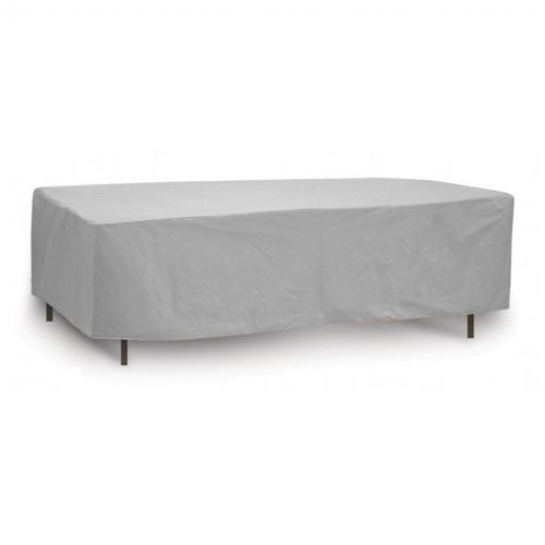 "80"" - 84"" Oval or Rectangular Outdoor Patio Table Cover - Gray PC1155-GR"