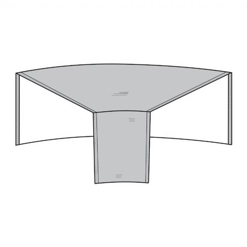 Patio Sectional Wedge Cover Rounded Back - Gray PC1250-GR