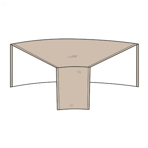 Patio Sectional Wedge Cover Rounded Back PC1250-TN