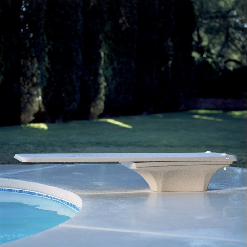 Pool Diving Boards: La Mesa Pool Diving Board with Jig White 10 Foot