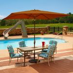 Adriatic 6.5' x 10' Rectangle Autotilt Market Umbrella - Terra Cotta Sunbrella NU5433TC